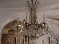 "Gorgeous Oval Beaded Chandelier 32"" High x 24"" Wide"