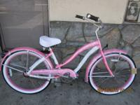 Gorgeous Pink Women's Beach Cruiser Bicycle on Sale!!