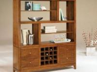Beautiful shelving unit with built in wine rack. You
