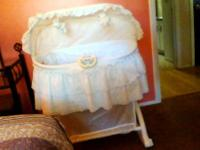 Bassinet from Grand Mom's smoke free home. Kolcraft