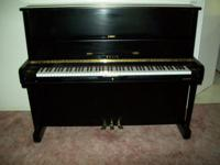 Gorgeous Sojin Upright Piano ebony black in excellent