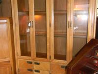 Gorgeous Stanley Furniture Blond Wood China Cabinet.