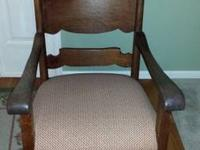 Beautiful and comfortable Tiger Oak Rocking chair.