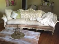 One of a Kind Refurbished Antique Sofa & (2)