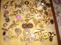 Georgeous Vintage Lot of 70 Pins/Broaches. There are