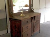 This solid walnut hutch has served us in the dining