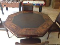 Gorgeous Game table and chairs. Originally purchased at