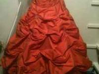 Firm Price! Beautiful Orange Pageant Dress will be used