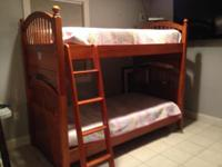 Gorgeous Walnut Vaugh-Bassett twin over twin bunkbeds
