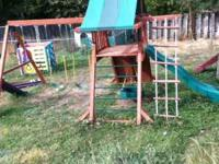 Gorilla play structure with large platform play deck