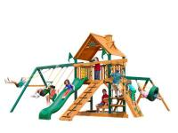 The Frontier Play Set features a covered play-suite, a