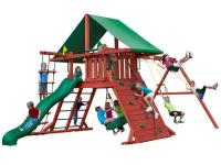 The Sun Valley I Play Set features a covered play-fort,