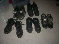 All these shoes for $20.00. There are five pairs of