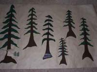 Handcrafted oregon pine trees,in sets of 3 trees.