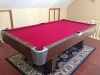 Gotham Pool table, rarely utilized, assembled very
