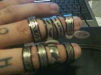 BRAND NEW RINGS!!!! I HAVE 20 LEFT!! ALL SIZES THERE