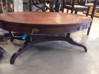 Beautiful and distinctive! Gothic walnut coffee table!