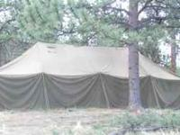 GP Medium military tent includes liner for cold weather