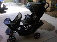 gracco double stroller in good condition call