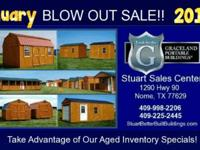Texas Largest Portable Building Inventory! No Credit