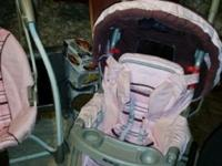 Infant seat with extra base, swing, bouncy seat, and