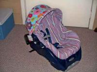 We have a Graco car seat and decorative cover. It is