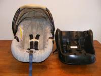 Graco Car Seat with Base and snap in stroller. The