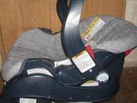 2 PC GRACO CAR SEAT --CARRIER-- FABRIC IN LIKE NEW