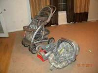 Comes with adjustable base for car seat. Infant car