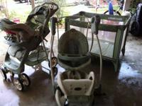 For sale, slightly used stroller, car seat, two bases,