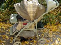 Coach Rider Chauffeur luxury stroller; seat comes out