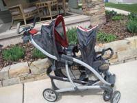 Graco double stroler. Back seat is slightly higher than