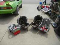 GRACO DUAL GLIDER SYSTEM COMPLETE WITH CAR SEATS AND