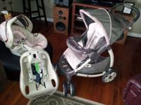 Graco Stroller, car seat , and car attatchment, all in
