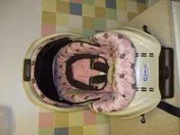 Graco pink and brown floral print. Very clean, exp. in