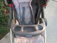 We have a Graco girls stroller for sale. In great