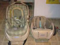 For sale is a Graco infant carseat with two bases (for
