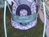 This infant swing has a hammock style for extra comfort