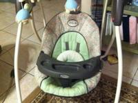 Graco swing is neutral with turtle mobile, six rates,