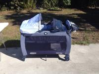 Features: Changing Station, Push-Button Fold, Bassinet,