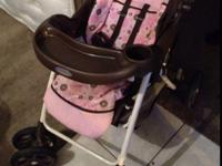 For sale pink an brown baby stroller Call or text