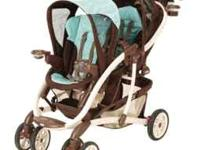 Graco Quattro Tour Duo Double Stroller. Milan Pattern.