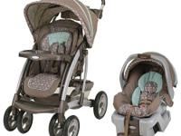 The Graco Quattro Tour Travel System Stroller in Capri