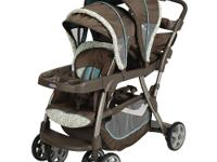 The Graco Ready2Grow LX Stand & Rider Stroller in Oasis