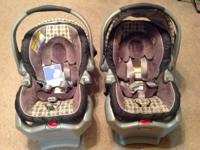Two Graco SnugRide 35 Infant Car Seats (each comes with