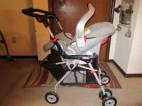Graco Snugrider (stroller/carseat with base, infant