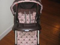This is a clean Graco stroller without stains or any