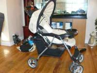 This is a Graco stroller. It used to be part of a