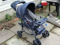 Great stroller, lots of room underneath for storage and