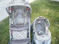 Graco stroller w/infant carseat and base, is still in
